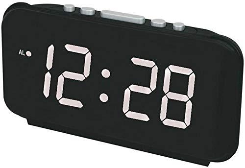 Reloj despertador electrónico creativo, calendario perpetuo multifunción, pantalla LED de alta definición con pantalla de temperatura