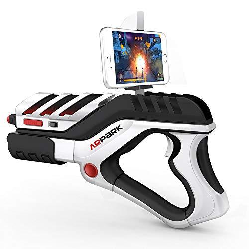 LBSJW Juego de la Palanca de Mando A8 AR formado Arma Bluetooth Controlador de Juegos inalámbrico con Clip de teléfono, for Dispositivos Android/iOS/PC Wireless Game Controller