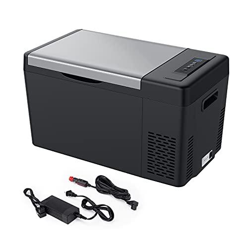 JoyTutus Portable 12 Volt Refrigerator, 23 Quart(22L) Car Fridge for DC 12/24V and AC 110V, -7.6℉~50℉ Freezer, Electric Cooler for Camping, Travel, RV, Truck, Vehicle, Boat and Home