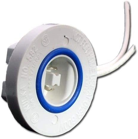 Kulka 00582 - #582 GDF Fixed End Lamp Holder for T12/HO Lamps (KULKA 582GDF FIXED END)