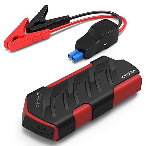Comprajunta Kits De Voiture De Démarrage 600A 15000Mah 12V Jump (Jusqu'à 6,0 L, Moteur Diesel 4,0 L) Chargeur pour Mobile, Tablette, Appareil Photo, Etc, Éclairage SOS, Certifié UL