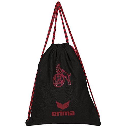 Erima 1. FC Köln Turnbeutel schwarz-rot schwarz-rot, standard