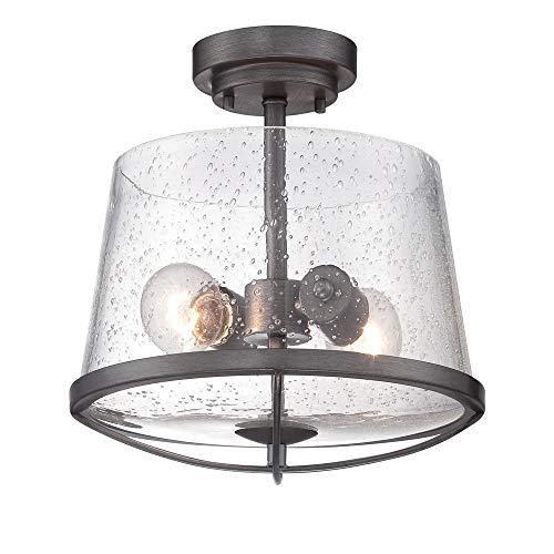 Designers Fountain 87011-WI Darby Semi-Flush, Weathered Iron
