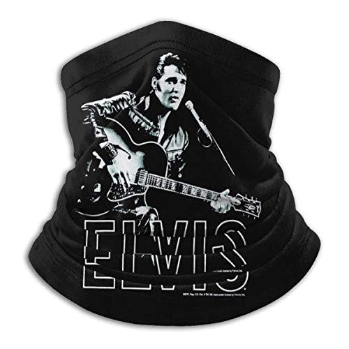 Elvis Presley Unisex Microfiber Neck Warmer Neck Gaiter Face Mask Bandana Balaclava