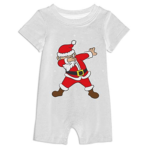 973 Dab-Bing Santa 3D Print Baby Suit Onesies Infant Short Sleeve Climbing for Toddler
