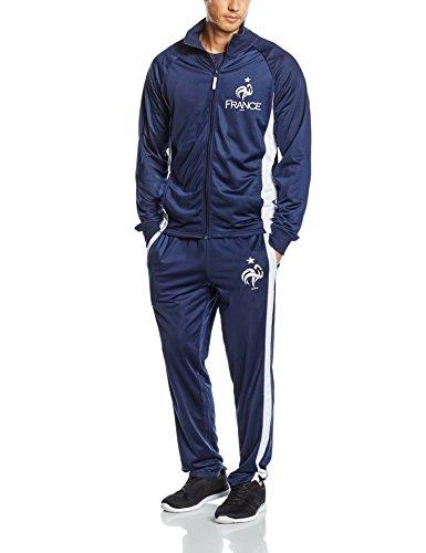 FFF EP3504 Herren-Trainingsanzug L Blau - Bleu Team