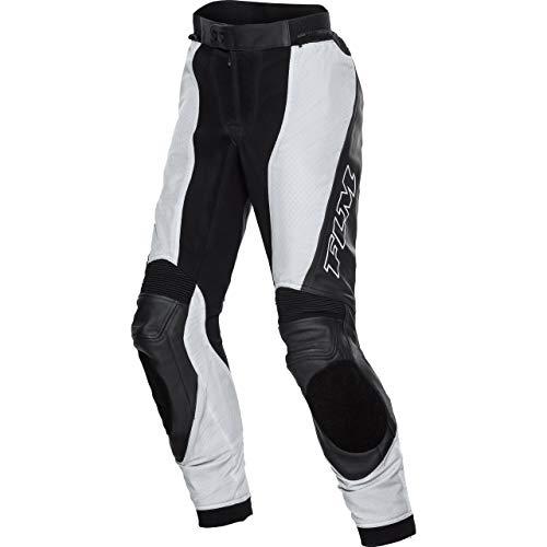 FLM Motorradhose Sports Damen Ledertextilhose 1.0 schwarz/grau 40, Sportler, Ganzjährig