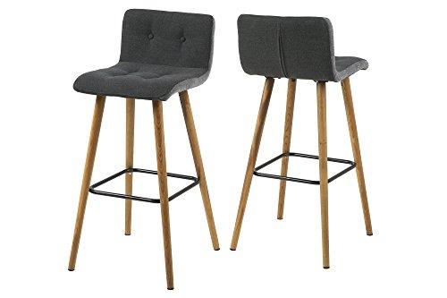 AC Design Furniture Charlotte barkruk Scandinavisch B: 44,5 x T:47 x H: 96,5 cm donkergrijs