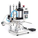 Pneumatic Hot Foil Stamping Machine 8x10CM 110V Leather Bronzing Pressure Mark Machine with Foot Switch for PVC Card Leather Wood Embossing