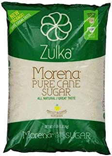 Zulka Morena Pure Cane Sugar, Unfined & Non-gmo All Natural Sugar (Bag size and quantity may vary for a total of 8lbs)