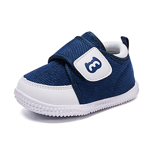 BMCiTYBM Baby Shoes Boy Girl Infant Sneakers Winter Warm Non Slip First Walkers 6 9 12 18 24 Months Navy Size 5