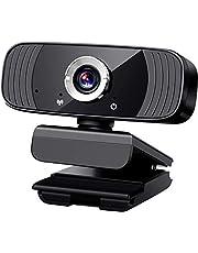 Kamera internetowa 1080P z mikrofonem, kamera internetowa USB z mikrofonem do komputerów, kamera internetowa do przesyłania strumieniowego, wideokonferencji, nagrywania, obrót o 360 stopni, redukcja szumów, wtyczka USB i odtwarzanie