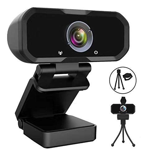 Svcouok 1080p Webcam w/ Privacy Shutter & Tripod Stand $8.99