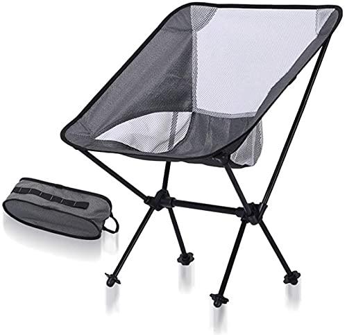 Silla de camping plegable de fácil montaje Sillas de camping plegables portátiles ultraligeras de aluminio con bolsas de almacenamiento y bolsa de transporte Compacto para la playa al aire libre
