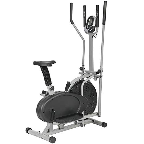 Elliptical Trainer Machine Exercise Bike 2 IN 1 Cross Cardio Trainer Exercise Elliptical Fitness Adjustable Resistance Workout Home Equipment