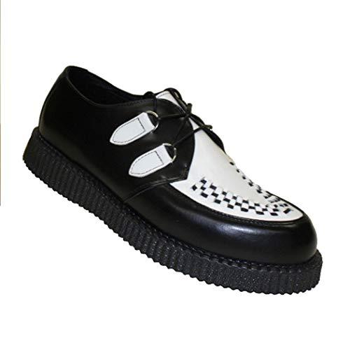 Boots & Braces - Creeper New Schwarz / Weiß Größe 39 (UK5)