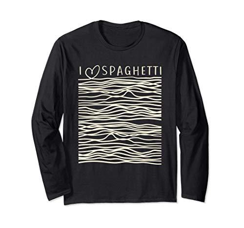 Nudeln Italienische Küche I Love Spaghetti & Pasta Langarmshirt