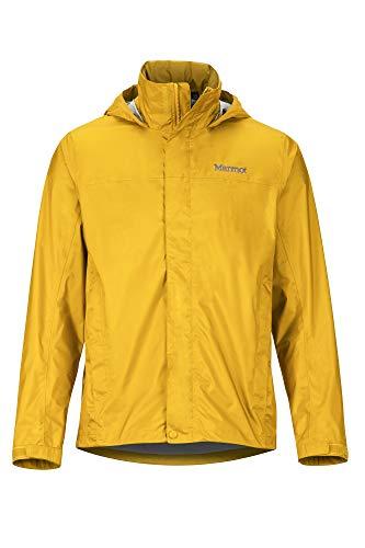 Marmot Men's PreCip Eco Jacket, Waterproof Jacket, Lightweight Hooded Rain Jacket, Windproof Raincoat, Breathable Windbreaker, Ideal for Running and Hiking, Solar, XL