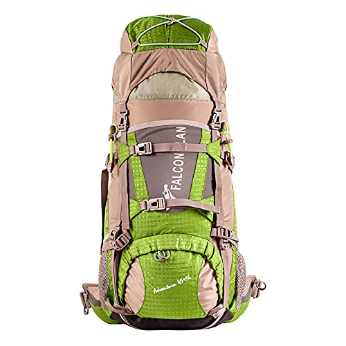 Mochila de Senderismo 45+5 L con Cubierta Impermeable Mochila de Marcha Trekking Camping Deporte al Aire Libre Impermeable para Excursionismo Ciclismo Alpinismo Senderismo Camping al Aire Libre