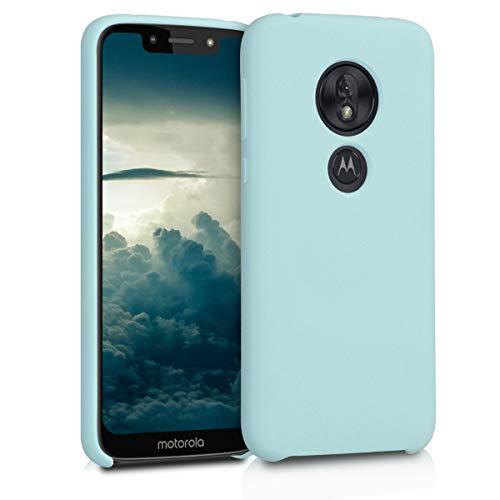 kwmobile Hülle kompatibel mit Motorola Moto G7 Play (EU-Version) - Handyhülle gummiert - Handy Hülle in Mintgrün