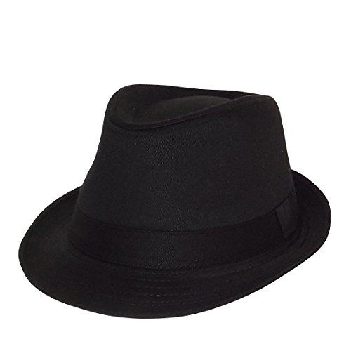 Chapeau-tendance - Chapeau Trilby Noir - 57 - Mixte