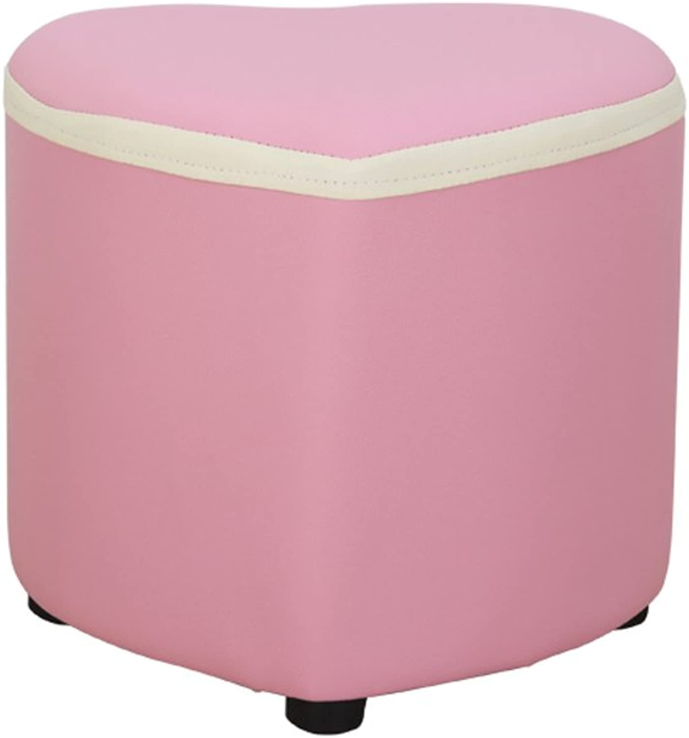 Stool Fashion for shoes Stool Creative Stool Solid Wood Bench Sofa Stool WENBO Home (color   Pink)
