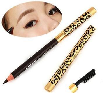 H-vuality-C Crayon à sourcils double longue durée pour femmes avec des outils cosmétiques de brosse à sourcils (coffee)