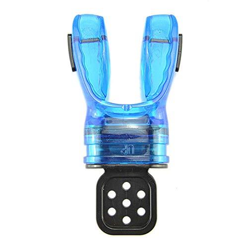 Erthree Boquilla de esnórquel, regulador de boquilla, snorkel subacuático, mordedura de silicona moldeable para deportes subacuáticos buceo respirar tubo azul (azul)