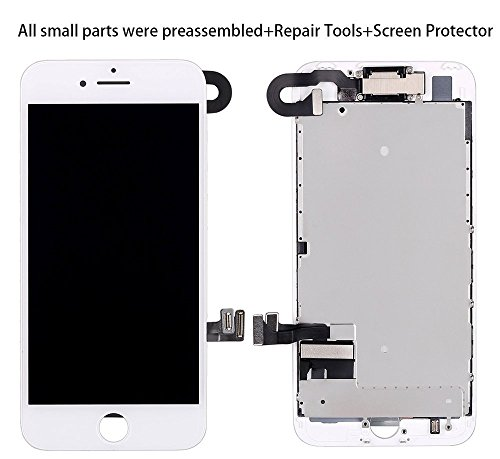 Screen Replacement for iPhone 8 Plus Gold (5.5) LCD 3D Touch Screen Digitizer Display with Free Repair Tool Kits + Free Screen Protector