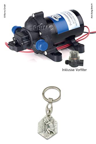 Zisa-Kombi Wasserpumpe 12V 10Liter/min 2,8bar (93298862056) mit Anhänger Hlg. Christophorus