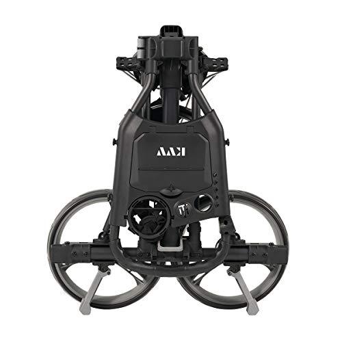 KVV 3 Wheel Compact Flat Folding Design Golf Push Cart with Lightweight and Sturdy Aluminum Frame