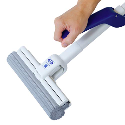 CleanAid OneTouch Magic, Sponge Mop for Floor Cleaning, Mess Free Double Roller, With Absorbent PVA Sponge 10 inch (27cm) wide, Floor Mop for Kitchen and Bathroom (Magic Mop)