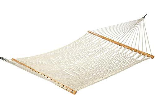 13 ft. Amaca tradizionale in corda di cotone con accessori per appenderla.