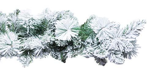 Xone Festone Carey 270 Cm In PP+PVC+Flock   Boa Festone Di Natale INNEVATO 270Cm, Elegante E Realistico