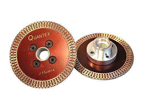 Diamant Trennscheibe mit Flansch M14 Durchmesser 75mm