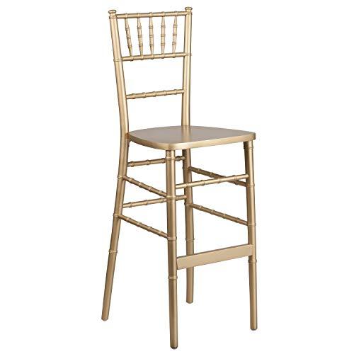 Flash Furniture HERCULES Series Gold Wood Chiavari Barstool