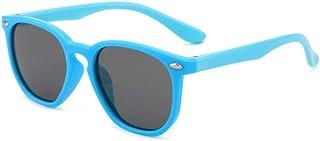 Gosunfly - Gafas de sol para niños de moda polar square box sunglasses-C11 - light blue box_Gray tablet