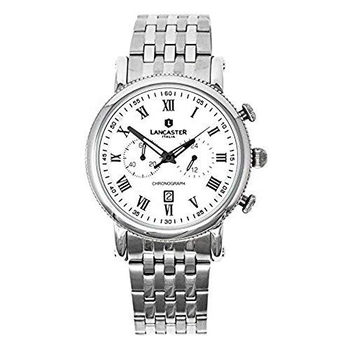 Lancaster Italy Orologio Cronografo Collezione Monarch Quadrante Bianco OLA0690MB/SS/BN