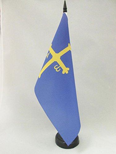 AZ FLAG Bandera de Mesa del PRINCIPADO DE Asturias 21x14cm - BANDERINA de DESPACHO ASTURIANA 14 x 21 cm