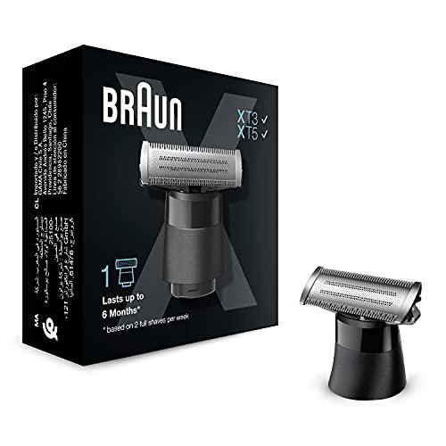 Braun Series X Ersatzklinge– Kompatibel mit Braun Series X Modellen, Barttrimmer und Elektrorasierer, 1 Klinge zum Trimmen, Stylen und Rasieren jedes Styles, 1 Stk., XT10
