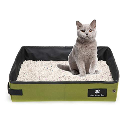 RRCT-Cat toilettas opvouwbare draagbare waterdichte kat nestlade voor reizen reis reis outdoor kat doos vervoerder kat toilet, M, 1