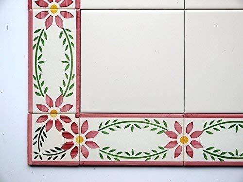 Angolo Piastrelle da parete in ceramica dipinta a mano-Cosmos