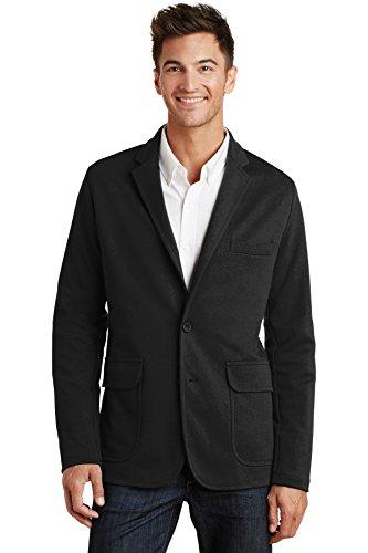 Port Authority Mens Knit Blazer (M2000) -BLACK -2XL