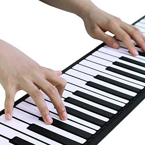 億騰 ロールピアノ 88鍵盤 電子ピアノ 折り畳み 128種類音色 88デモン曲 OTG機能 150リズム USB充電 スピーカー内蔵 イヤホン マイク対応 キーボード 楽器 初心者 練習 日本語説明書付き