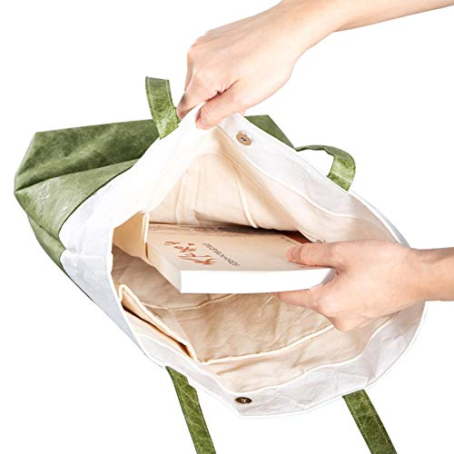 qiyifang Tyvek Custom Hand-held Paper Bags, Waterproof Paper Bags, Washable Hand-held Shopping Bags, Not Torn, With Inner Compartment, Reusable, Environmentally Friendly Gift Bags