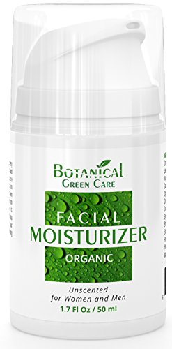 Facial Moisturizer. Organic & 100% Natural Face Moisturizing Cream for Sensitive, Dry & Normal Skin - Anti-Aging and Anti-Wrinkle, for Women and Men. NEW 2018 FORMULA!