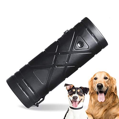 YHmall 3 in 1 Ultraschall Hunde Anti-barke Handheld-Hundetrainingsgerät Abschreckung Antibellen Hund Stopper Trainer GerätLED-Außenrinde-Controller Anti-Statik Handschlaufe MEHRWEG