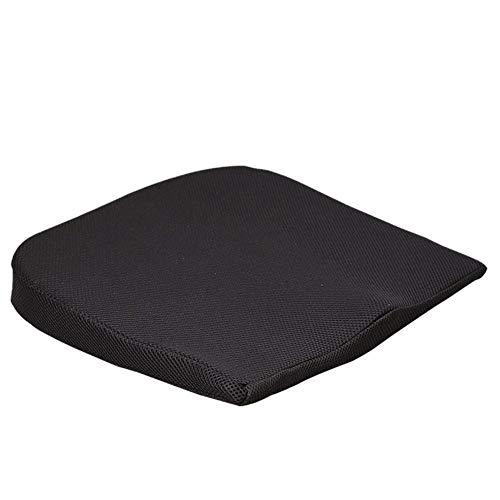 Hiqusc Sitzkissen aus Memory-Schaum, für Bürocomputer und Autositzkissen, perfekt für Steißbein orthopädisch, verbessert die Körperhaltung Schwarz