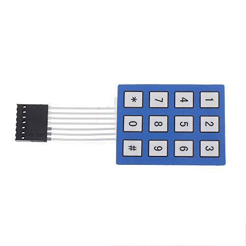 LKK-KK 10 stücke 4 x 3 Matrix-Array 12 Tasten-Tastatur-Tastatur verputzte Membran 4 * 3 Button-Pad mit Aufkleber-Schalter