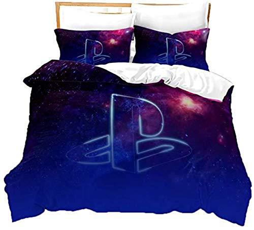 QWAS Ropa de cama Harry Potter 3D, 100% microfibra, dibujos animados (L5,135 x 200 cm + 80 x 80 cm x 2)